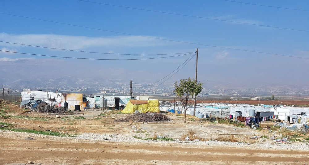 Tents housing refugees in the Beqaa Valley
