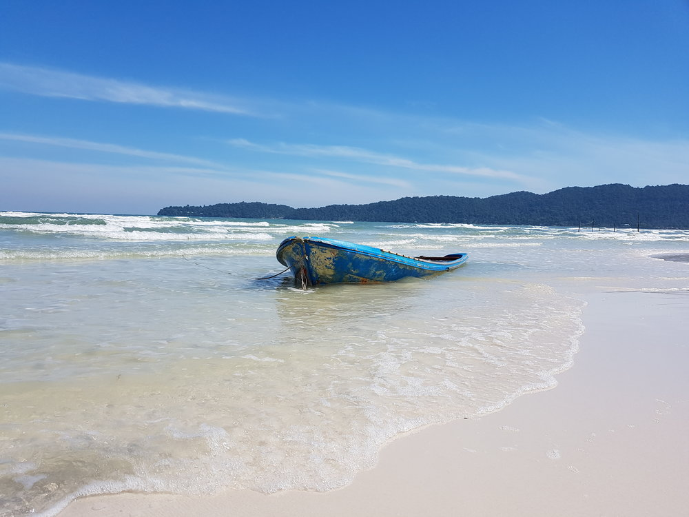 Tranquil beaches on Koh Rong Samloem
