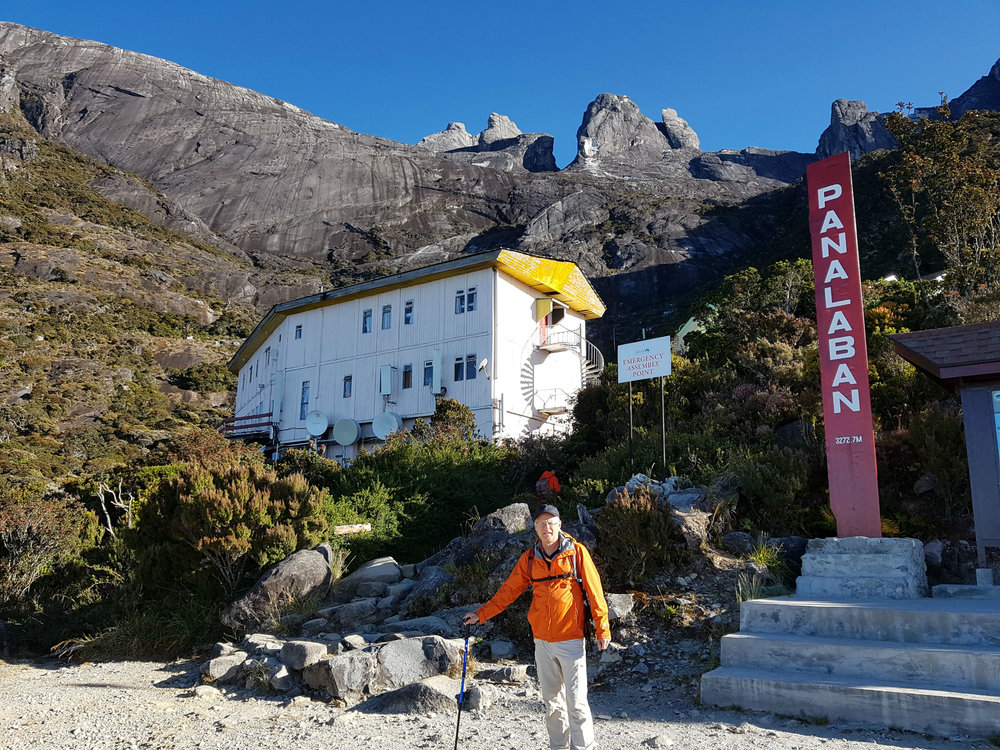 Resthouse at 3250 meters. Breathing became harder, not much vegetation.