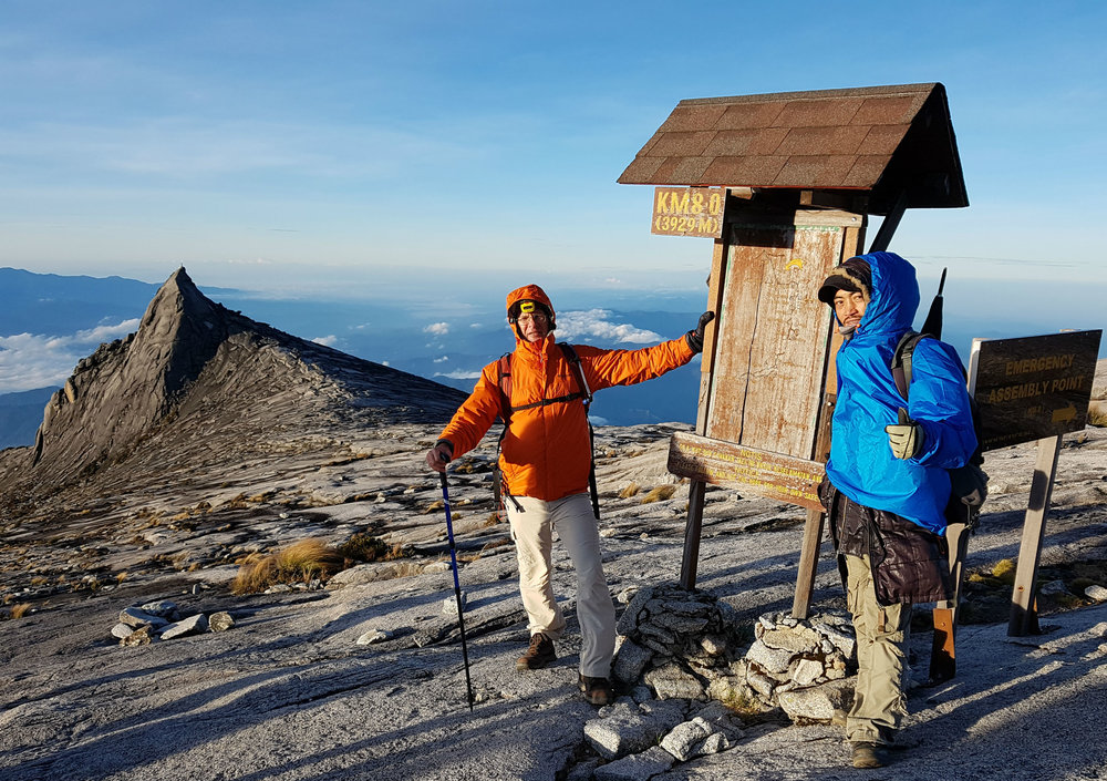 With my guide Reiza descending from the summit.