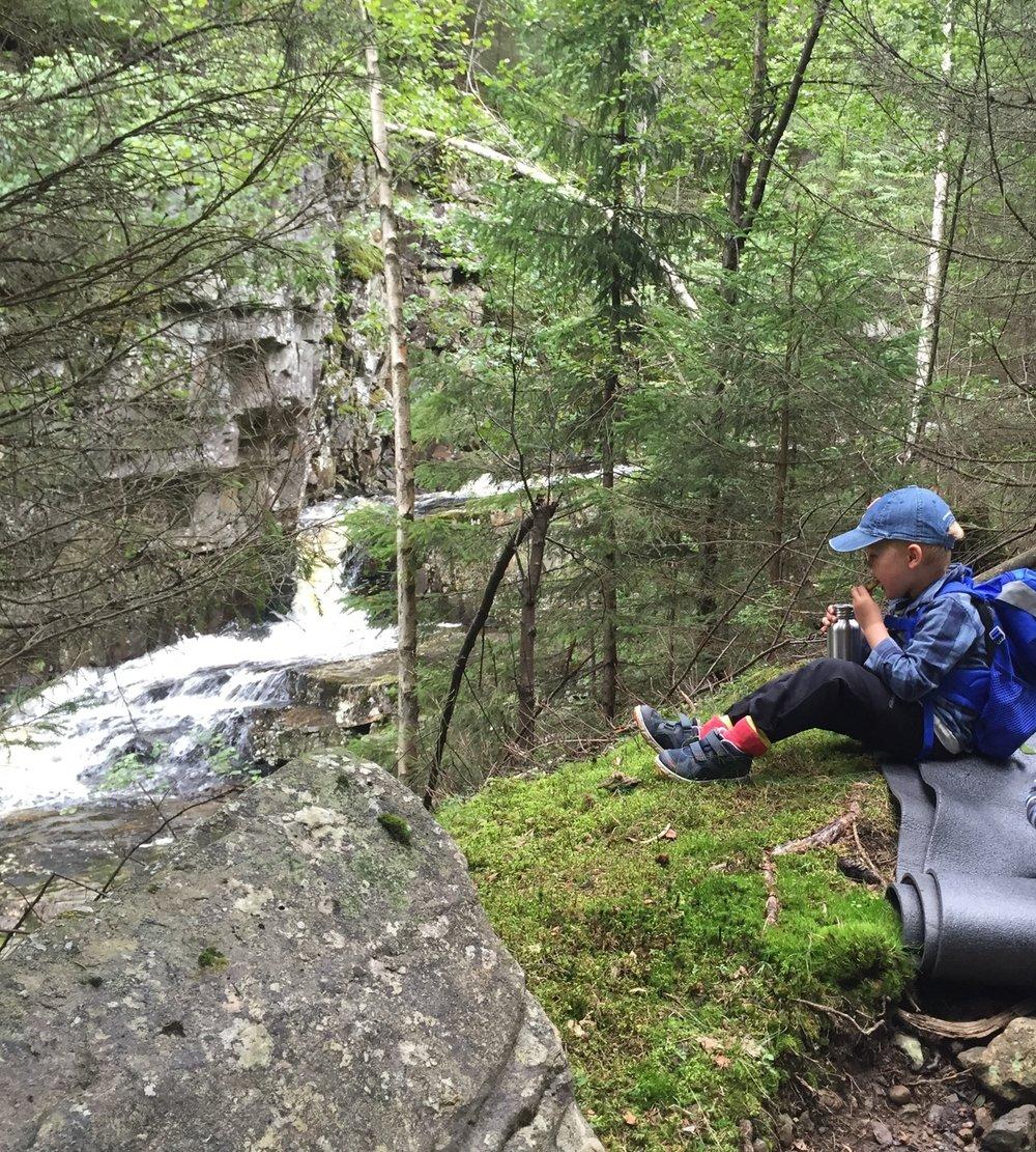 Fine plasser å oppleve elva på vei oppover