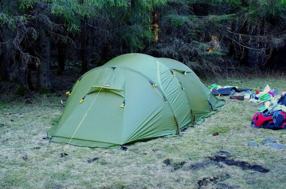 Kjempefin teltplass
