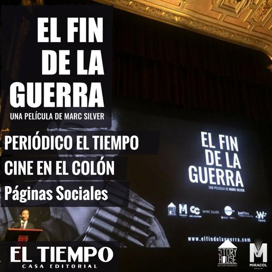 Cine en el Teatro Colón La película 'El fin de la guerra', de Marc Silver, se estrenó en el Teatro Colón de Bogotá conmemorando el Día Internacional de la Paz el 21 de Septiembre. POREL TIEMPO   22 Sep de 2017