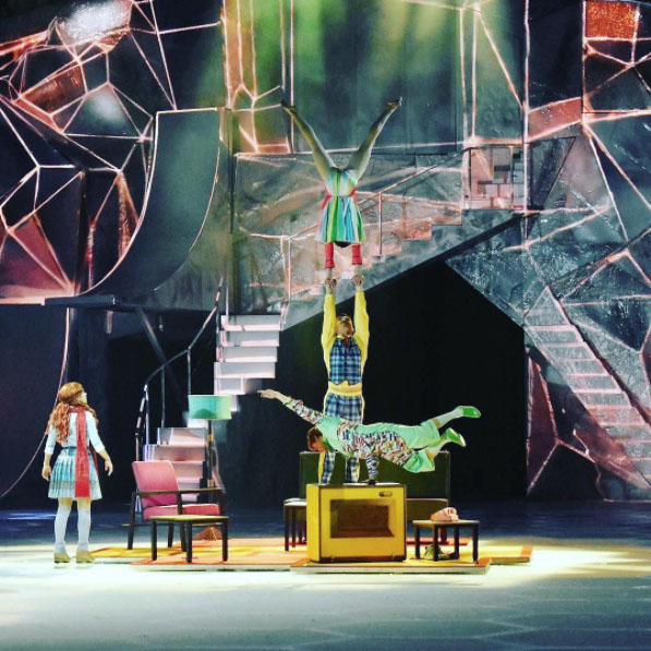 Nathan & isis performing in cirque du soliel': crystal (image from  @standingacrobatics )