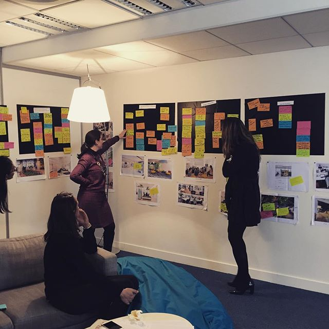 Life at #criparis - design meeting for the new HQ. #ideation #postit #team