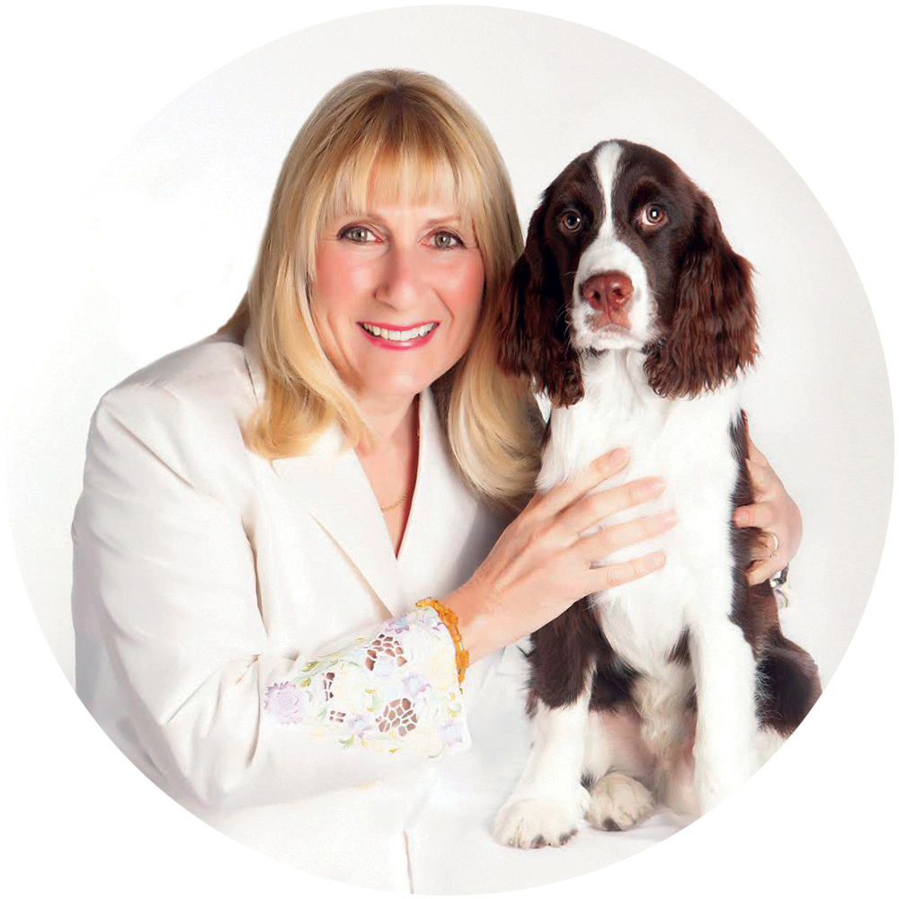 Pet Acoustics Founder, Janet Marlow with companion, Rigby.