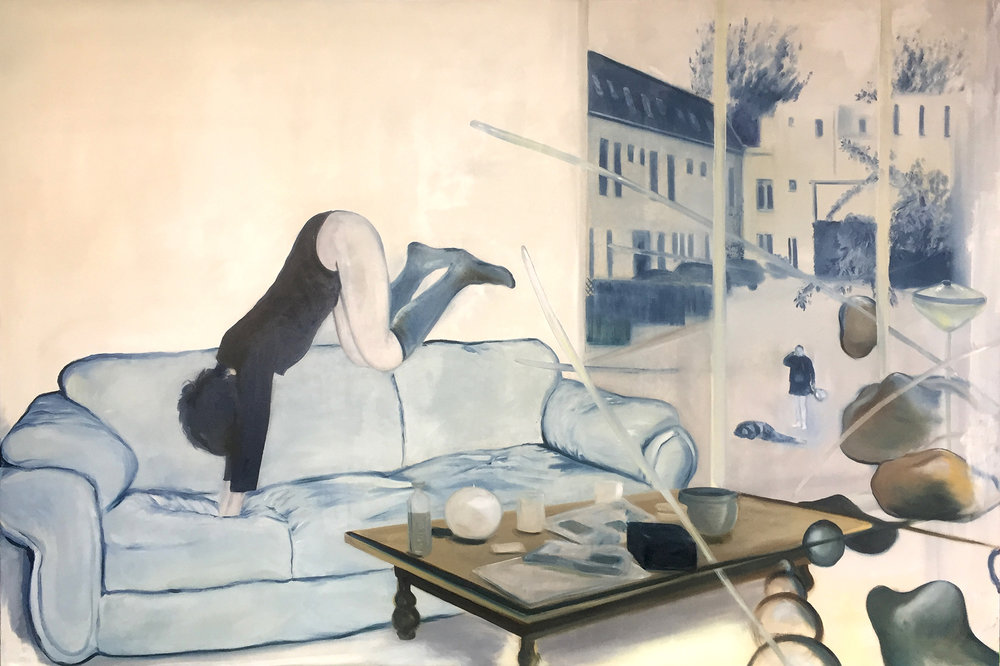 Couch Girl, Oil on canvas, 220 x 150 cm, 2016