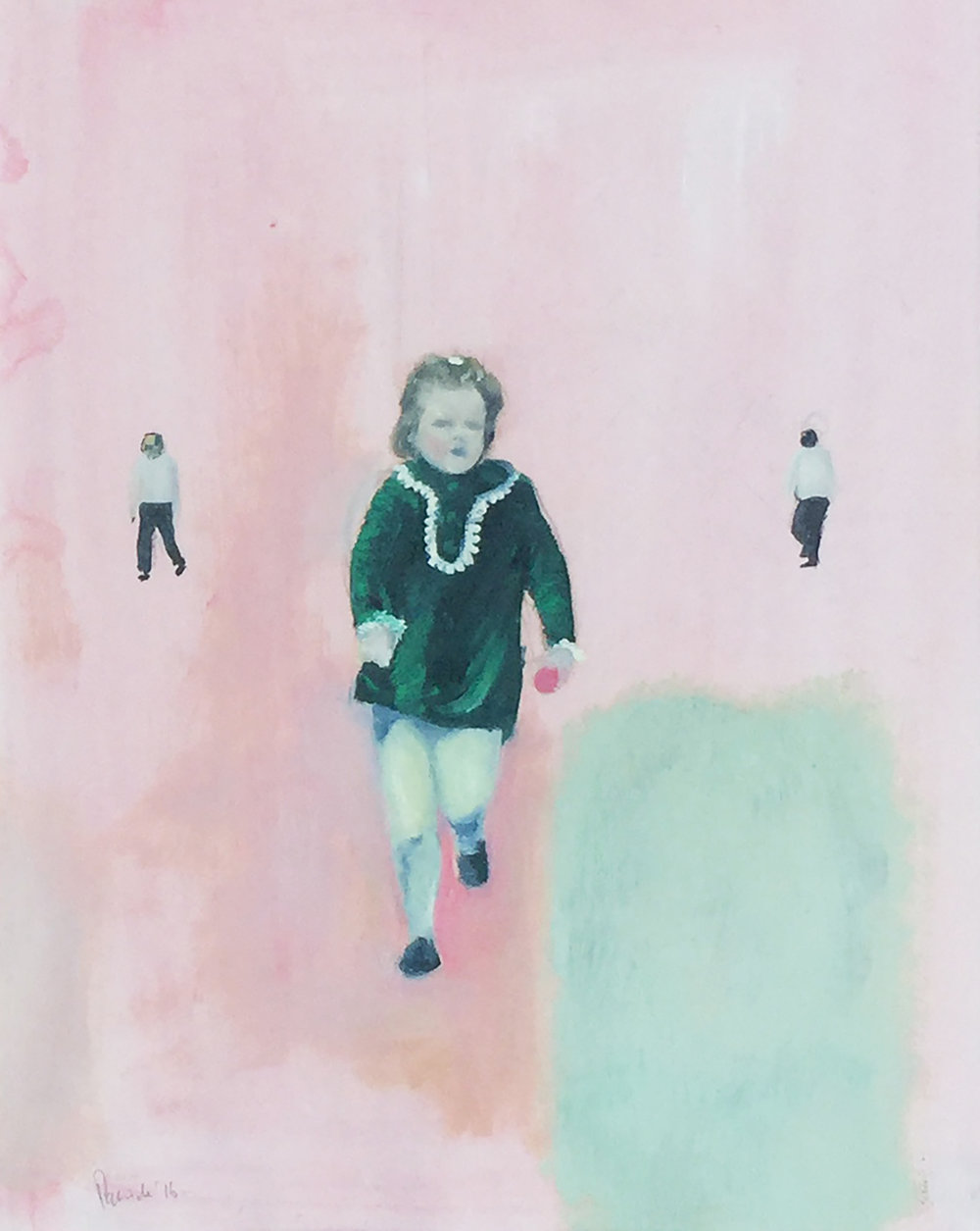 Running Child, Mixed media on paper, 52 x 72 cm, 2016