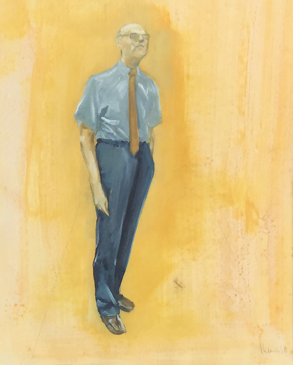 Belgian Man, Mixed media on paper, 52 x 72 cm, 2016