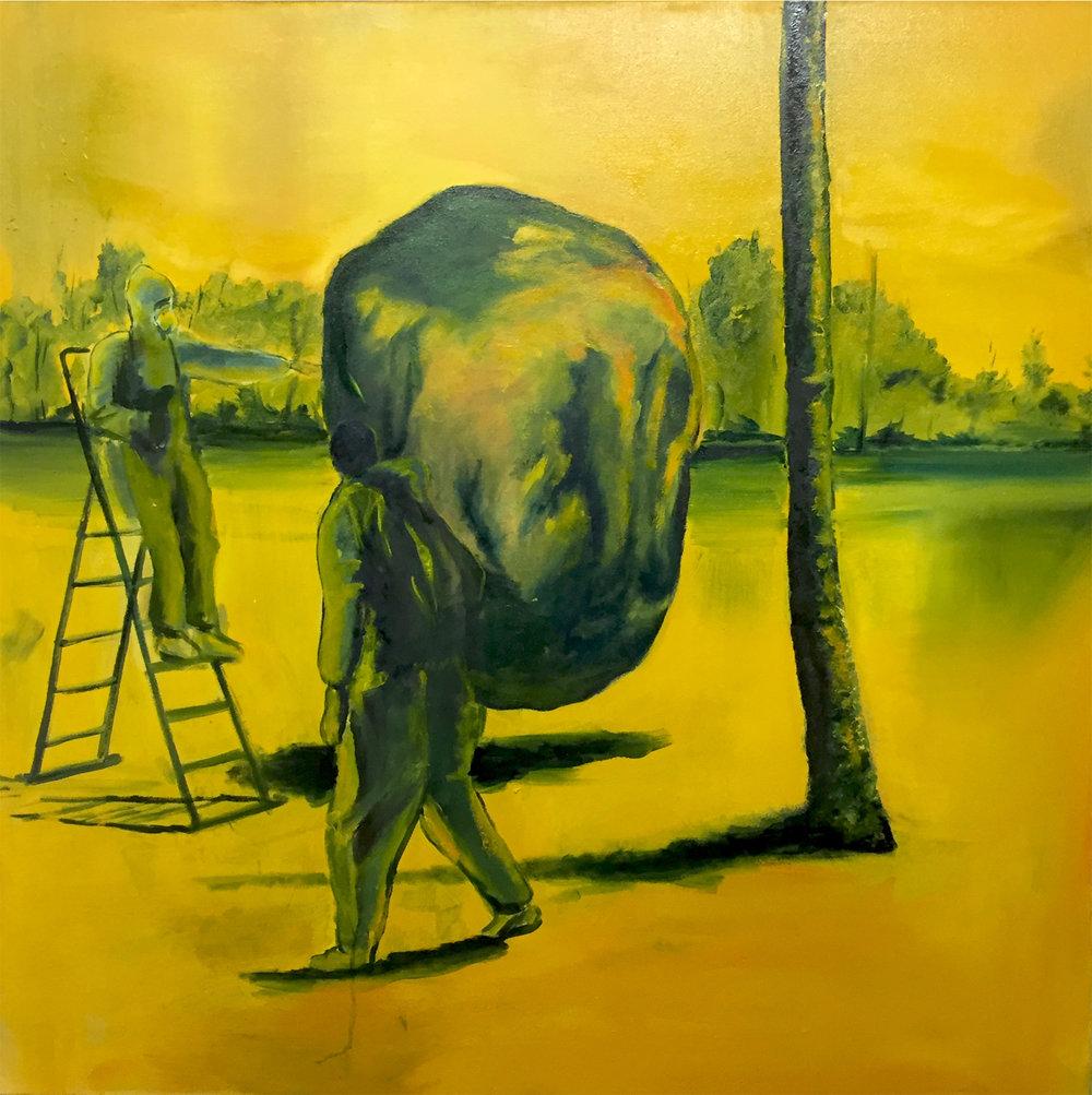 The Approach, Oil on canvas, 100 x 100 cm, 2016