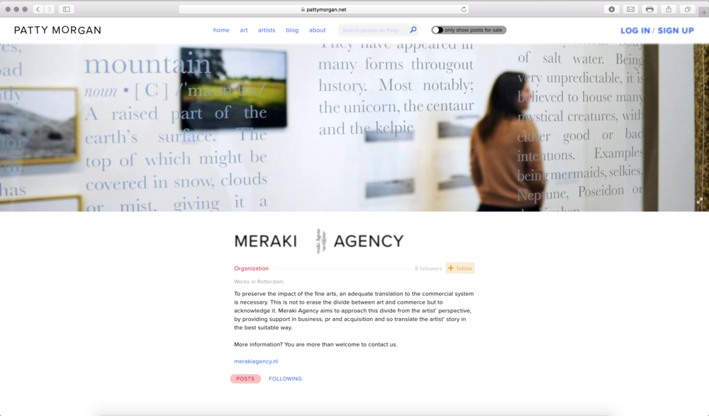 Screenshot of Meraki Agency at http://pattymorgan.net