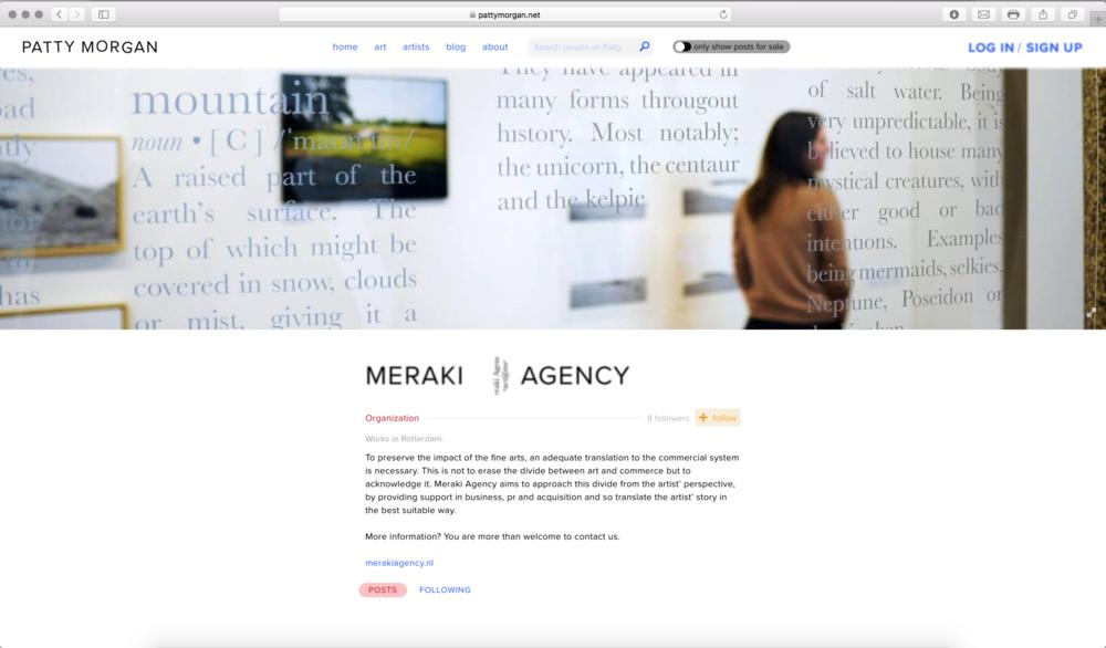 Screenshot of Meraki Agency at http://pattymorgan.net