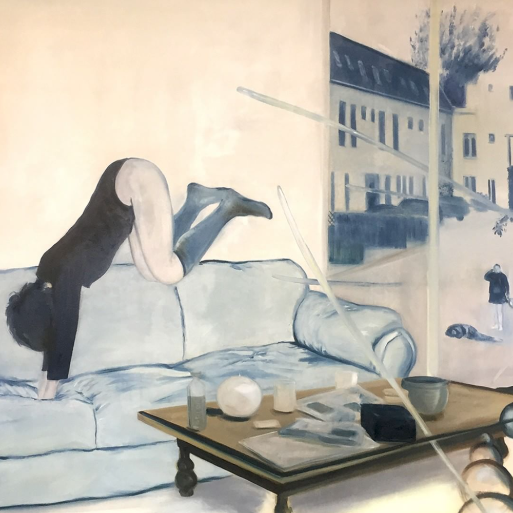 Couch Girl (detail), Patrick van Vliet, 2016