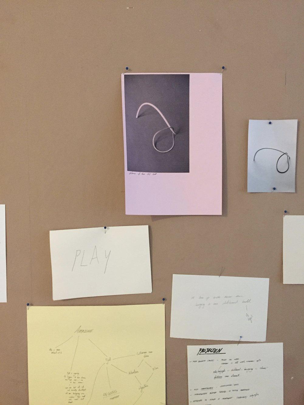studio visit at Lorena van Bunningen, 2018