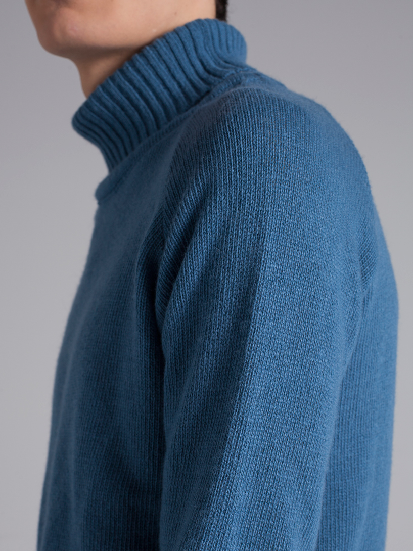 Blue Turtleneck Sweater — DOS STUDIO