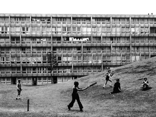 Alison and Peter Smithson, Robin Hood Gardens, 1972