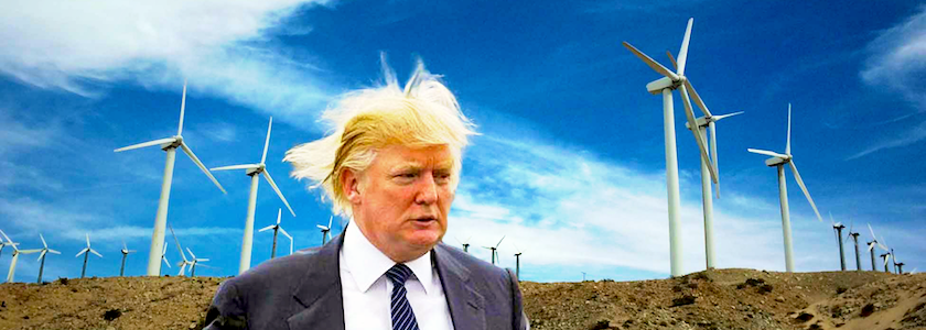 trump i have a problem with wind bulb making energy simpler
