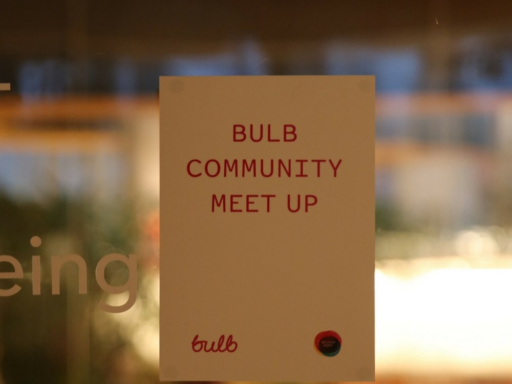 bulb-community-meet-up-sign