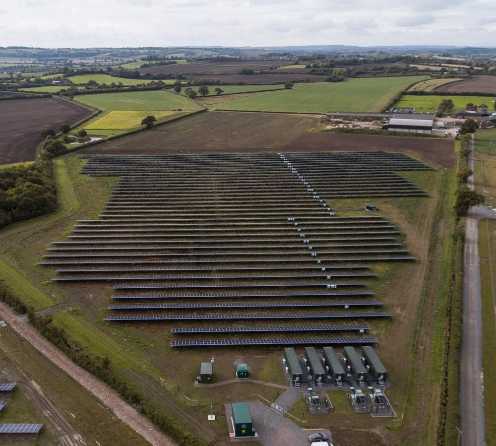 Clayhill solar farm.   Source:  Anesco.