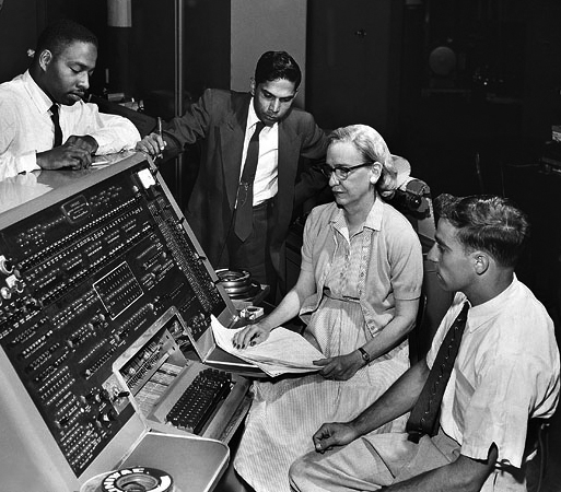 Grace Hopper working with the US Navy in 1960.  Image credit.