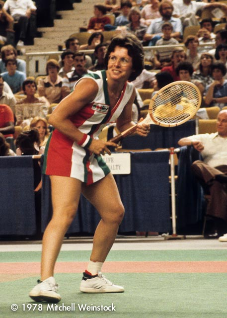 Billie Jean King in 1978.  Image Credit.
