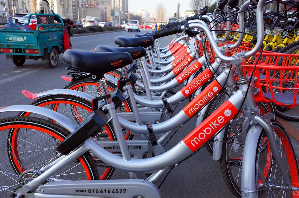 Mobikes on the streets
