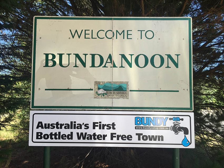 Welcome to plastic-free paradise, Bundanoon.  Image credit .