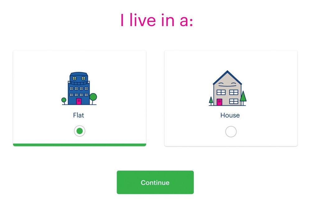 Simple design for Bulb often means simple binary choices, even if it means more clicks