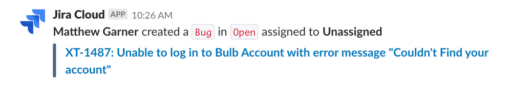 Our Energy Specialists create tickets when members flag issues to us. We use the JIRA integration in our #qa Slack channel to get alerted and triage them as soon as we can.