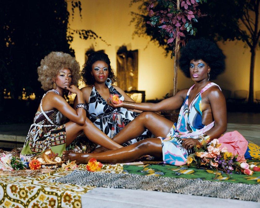 Le déjeuner sur l'herbe- Les Trois Femmes Noires. 2010.jpg