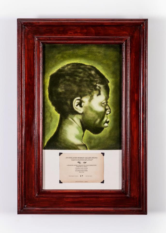 An Enslaved Woman Called Drana, A Drawing After a Detail of a Daguerreotype Taken by J.T. Zealy, South Carolina, 1950, 2016.jpg