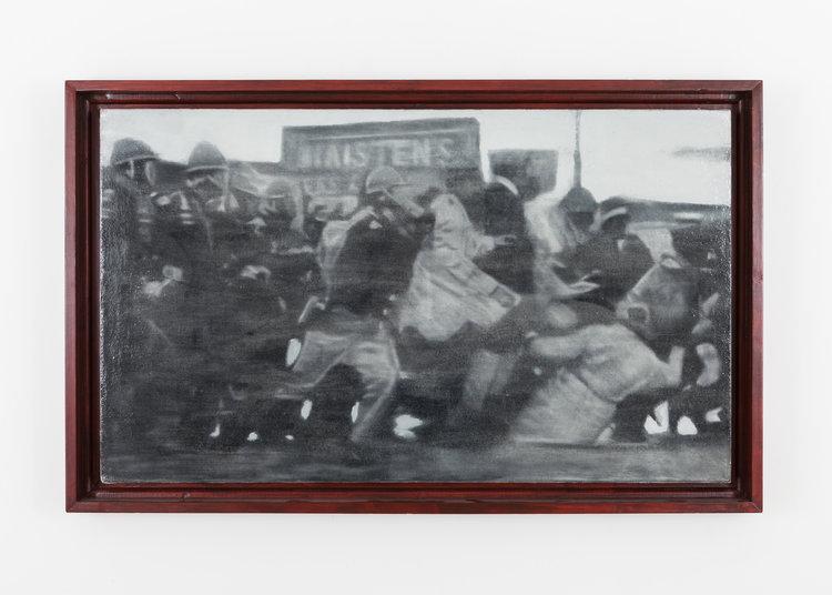 Edmund Pettus Bridge, Selma, AL, March 7th, 1965, Bloody Sunday (Modeled after Caravaggio's 'The Taking Of Christ', 1602), 2010.jpg