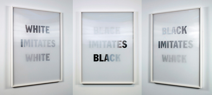 White Imitates Black, (multiple views) 2009.jpg