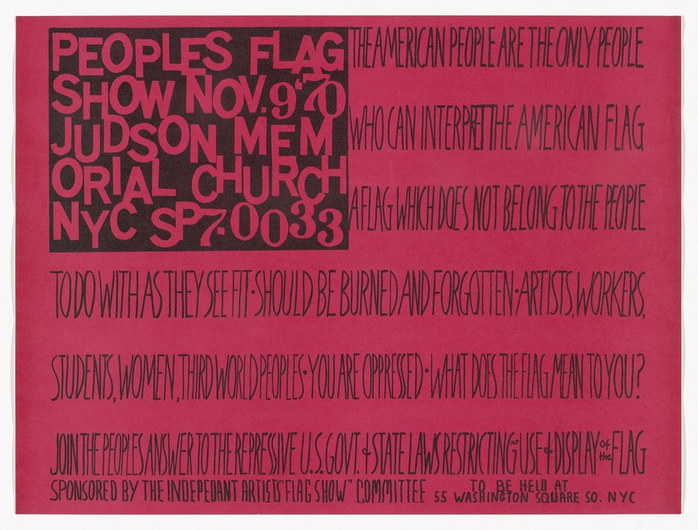 Faith Ringgold,  The People's Flag Show , 1971