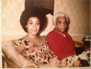Photo of Lowery and her father, circa 1975.