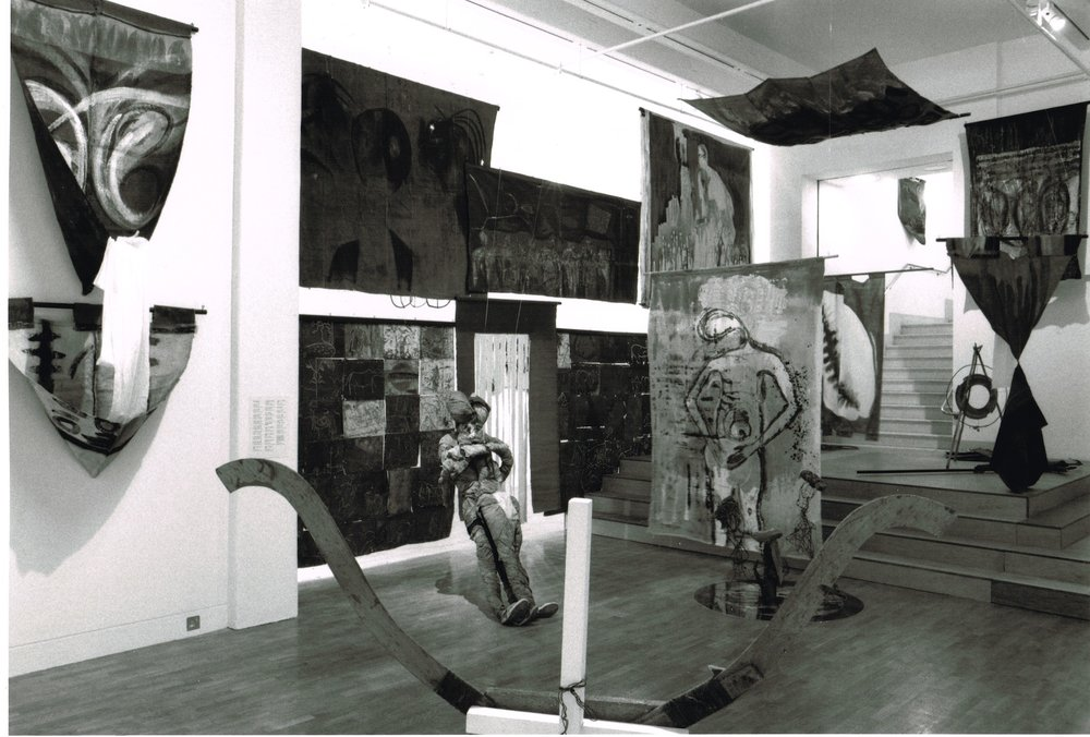 Installation view of  Seven Stories About Modern Art in Africa, 1995.