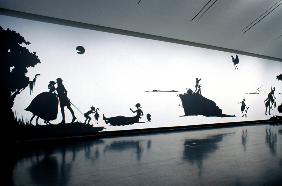 Installation view of  Kara Walker: Narratives of a Negress , Tang Teaching Museum, 2003.