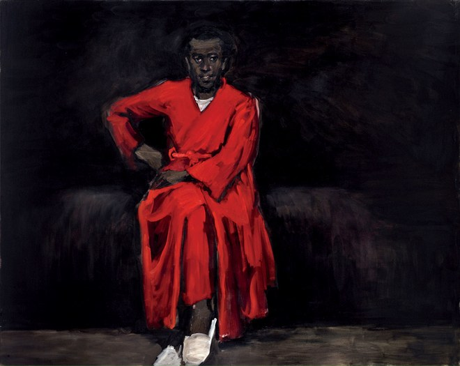 Lynette Yiadom-Boakye,  Any Number of Preoccupations , 2010.  Above:Ph: Maria Ponce.