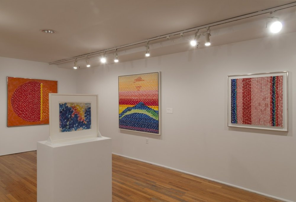 Installation view of  Alma Thomas at the Studio Museum in Harlem, 2016.