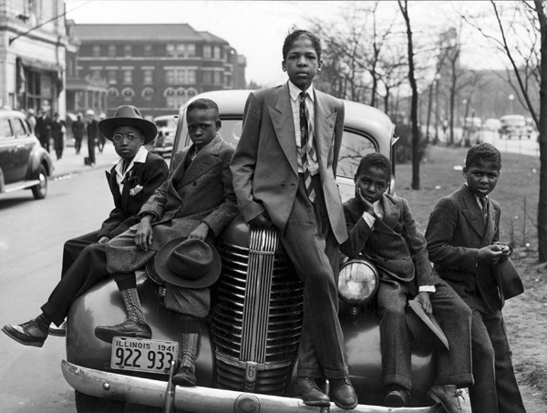 Russell Lee,  Negro boys on Easter morning, April 1941. Featured in Posing Beauty in African American Culture,  2009.