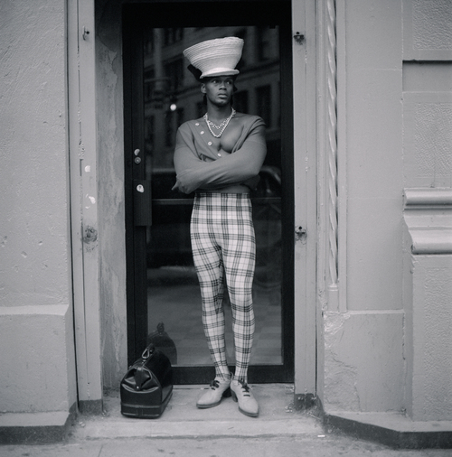 Jeffrey Henson Scales,  Young Man in Plaid, New York City , 1992.  Featured in Posing Beauty in African American Culture,  2009.