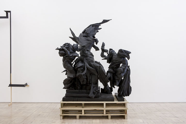 Wim Botha,  Prism 10 (Dead Laocoön),  2014. Featured in  The Divine Comedy – Heaven, Hell, Purgatory by Contemporary African Artists  at Museum für Moderne Kunst, Frankfurt. PH: Axel Schneider.