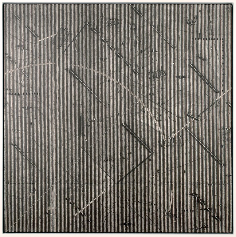 Jack Whitten,   Epsilon Series II,  1976.   PH:courtesy Alexander Gray Associates, New York. Featured in  Blackness in Abstraction, Pace Gallery, NY,2016.