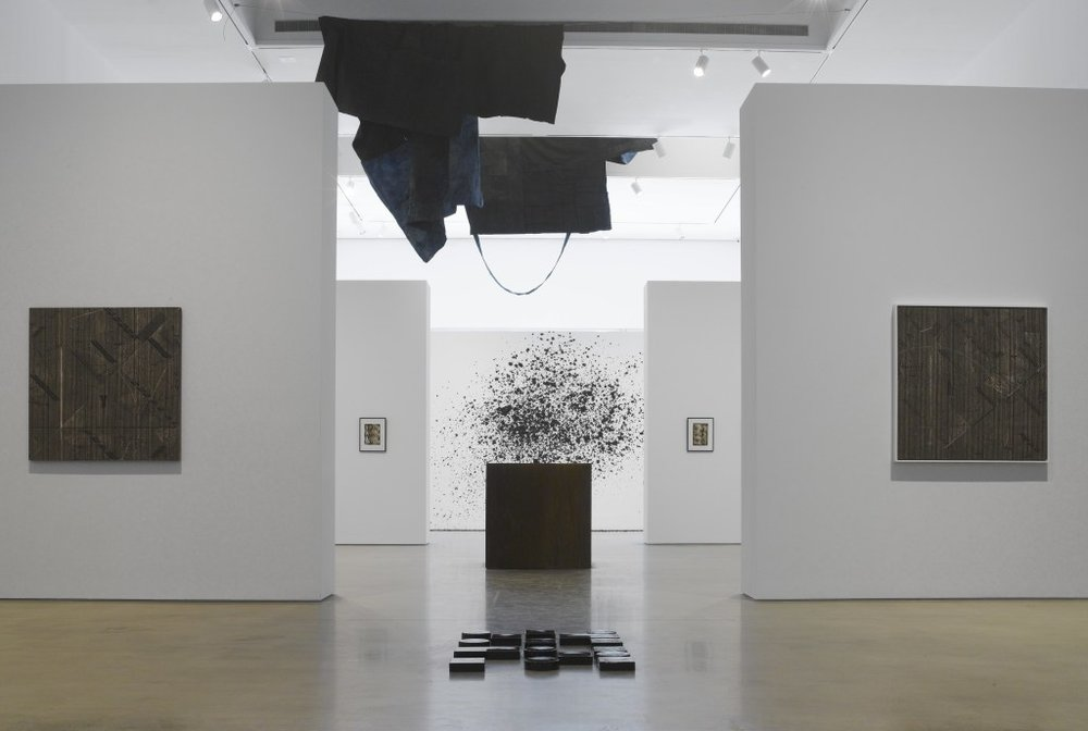 Installation view of  Blackness in Abstraction, Pace Gallery, NY,2016.