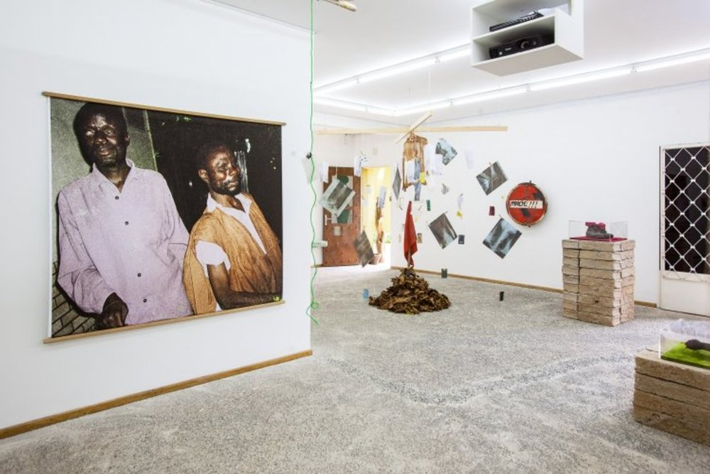 Installation view of  WORD! WORD? WORD! Issa Samb and the Undecipherable Form  at  RAW Material Company, 2013.