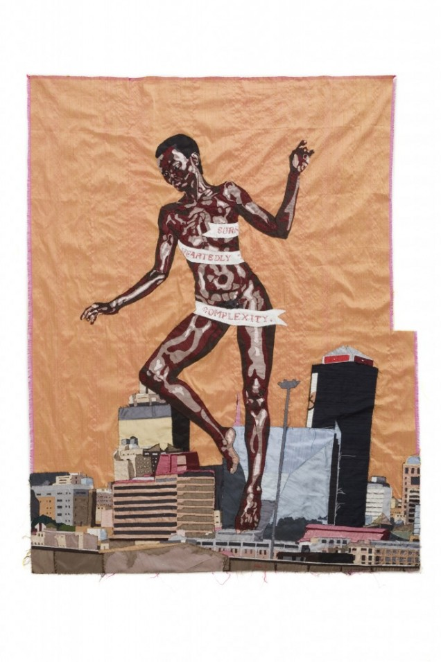 Billie Zangewa, The Rebirth of the Black Venus, 2010. Featured in  Body Talk: Feminism, Sexuality and the Body in the Work of Six African Women Artists at WIELS, Contemporary Art Centre, 2016.