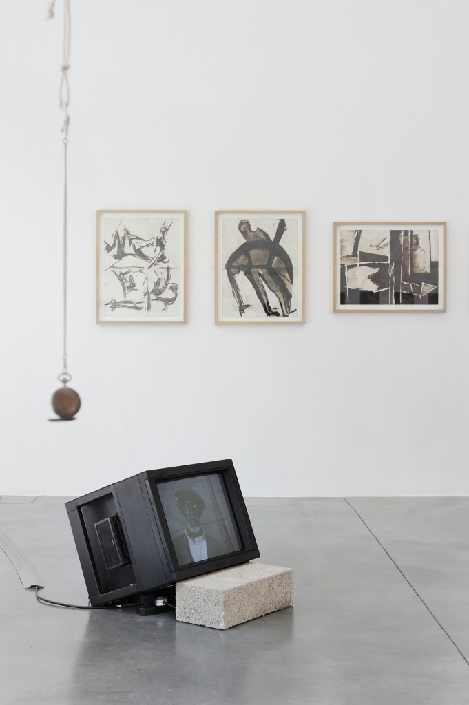 Installation view,  Issa Samb, From the Ethics of Acting to the Empire Without Signs , Rivington Place, 2014. PH: Thiery Bal