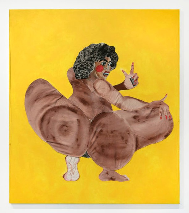 "Tschabalala Self, Milk Chocolate, 2017. ""My current body of work is concerned with the iconographic significance of the Black female body in contemporary culture. My work explores the emotional, physical and psychological impact of the Black female body as icon, and is primarily devoted to examining the intersectionality of race, gender and sexualty. Collective fantasies surround the Black body, and have created a cultural niche in which exists our contemporary understanding of Black femininity. My practice is dedicated to naming this phenomenon."" @tschabalalaself . . . . . . . . . . . . #blackvisualimpulse #blackcontemporaryart #tschabalalaself #contemporaryart #mixedmediaart #multimediaart #contemporarypainting #supportblackart #artblog #artblogger #intersectionalfeminism #intersectionalfeminist #blackgirlmagic #blackfeminism"