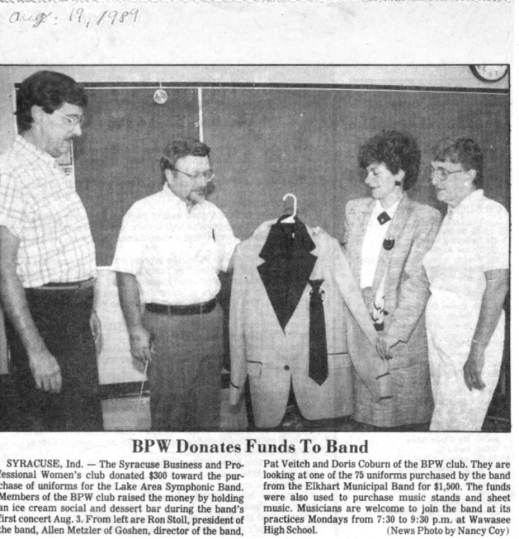 1989 Uniform Donation