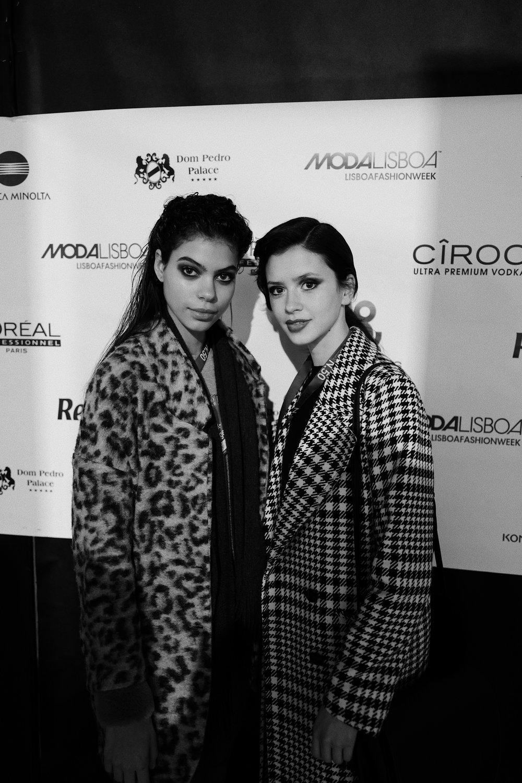 A Zara Bicha e a Carolina Pais são ambas manequins da Elite e desfilaram em vários desfiles durante a ModaLisboa. / Zara Bicha and Carolina Pais are both Elite models and, oh my God, they are beautiful!